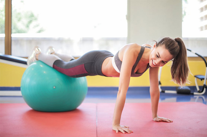 Woman working out during periods