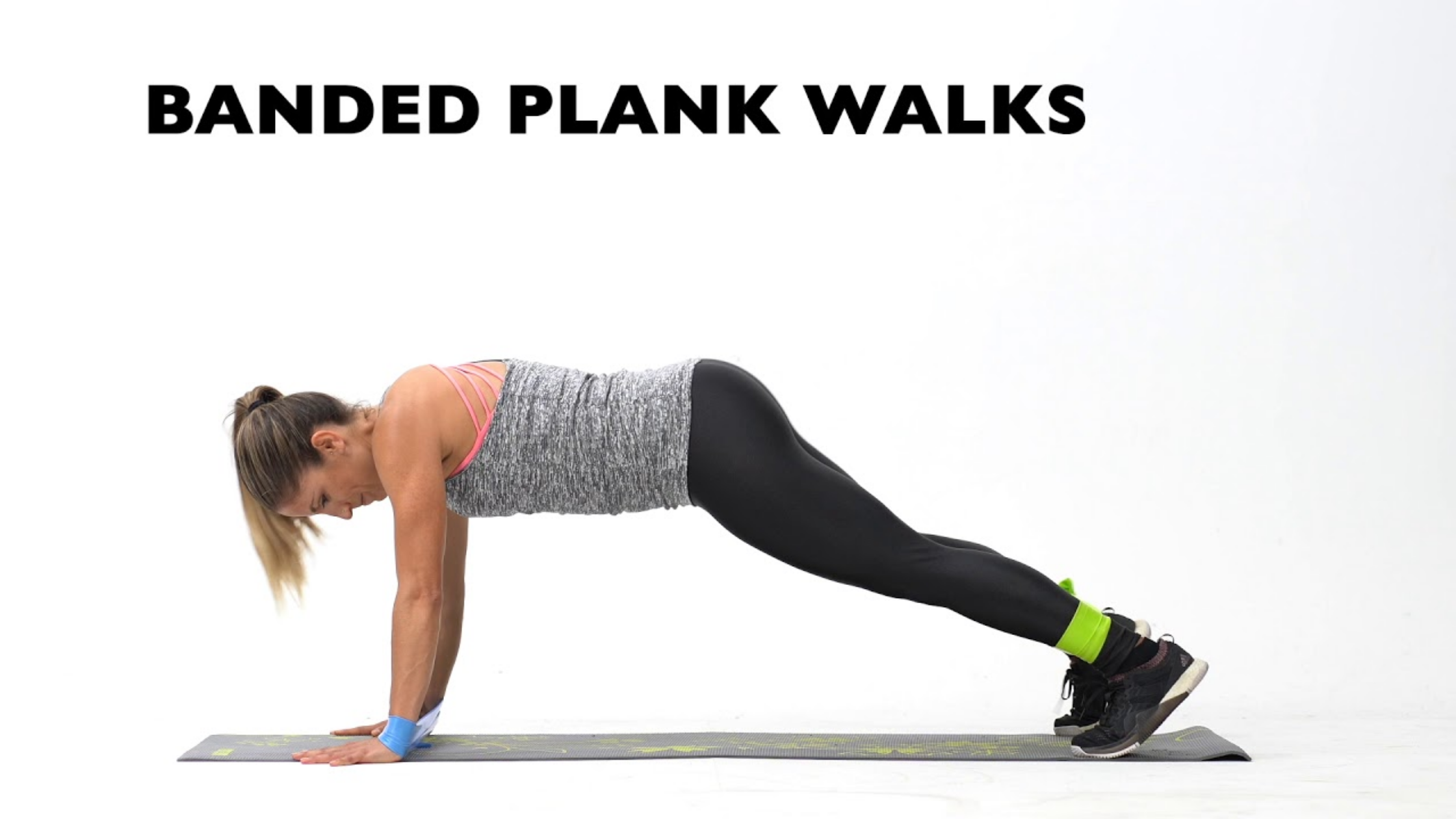 Banded Plank Walks - Best Resistance Band Workout For Abs